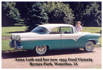 Anna Luth and her 1955 Ford Victoria
